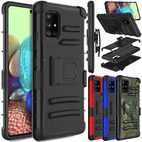 For Samsung Galaxy [A71 5G][A51 5G]Case Belt Clip Stand Holster/Screen Protector