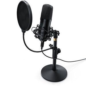 LIAM & DAAN Profi Podcast Set USB Studiomikro Großmembran Kondensatormikrofon