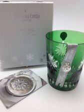 Waterford Crystal Snowflake Wishes Courage 2012 Emerald Green Glass