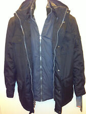 Hawke co mens hooded pursuit 3 in 1 Aerofill Jacket  coat black color Small $280
