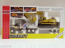 Caterpillar 225 Excavator w/ Tractor Trailer - 1/50 - Joal #320 - MIB