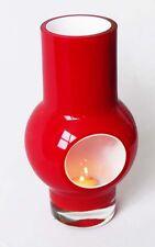MAKORA Vase | Hand Made | Blown Glass | Red & White | 2 kg