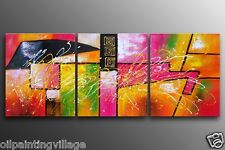 Modern art oil PAINTING on Canvas Swirls hung vertical or horizontal