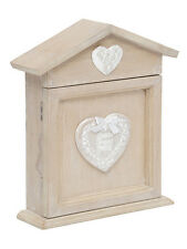 Shabby Chic French Vintage Style Heart Wooden Key Cupboard - NEW