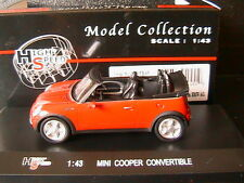 MINI COOPER CONVERTIBLE ROADSTER RED HIGHSPEED 43KFB45 1/43 AUSTIN CABRIOLET