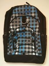 Pottery Barn PB Teen Black Blue Checkered Gear Up Large Backpack name COURTNEY