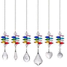 LONGWIN Set 6 Crystal Suncatcher Stained Glass Pendant in the Garden Window Gift