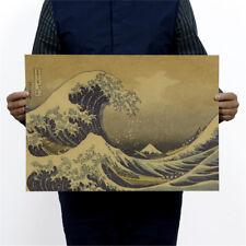 epic masterpiece float world draw retro kraft paper poster decor wall sticker HF