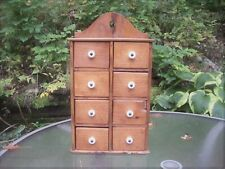 New ListingPrimitive 8-Drawer Wooden Spice Box ~ Handmade ~ Country Farm Home Kitchen Decor
