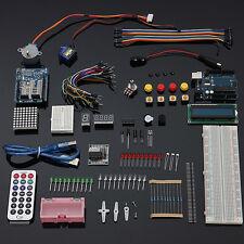UNO R3 Starter Kit 1602 LCD Motor Dot Matrix Breadboard LED Set for Arduino
