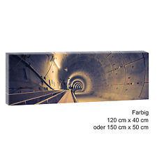 Hamburg U-Bahn Tunnel -Panoramabild  Leinwand Poster XXL 120 cm*40 cm 510