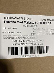 Teavana Mint Majesty Case 100 CT NEW SEALED SEPTEMBER 2021