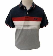 Superdry-Grey Mix Cotton Short Sleeved Polo Shirt With Chest Logo - Size - XL