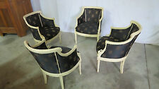 Griffin Carved Swan Club Dining Room Chairs Set Four Designer