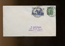 """Australia Cover 1952 """"North"""", NSW to Oakland, California with large blue"""