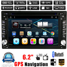 "6.2"" GPS Nav HD 2DIN Car Stereo DVD Player Bluetooth Radio MP3 TV USB SD In Dash"