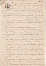* 1841 Italian document 3 cachets-Italie - 8 Côtés de lecture