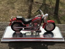 Maisto 1999 Harley Davidson FLSTF Fatboy motorcycle model on stand
