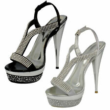 Evening Stiletto Ankle Straps Synthetic Women's Sandals & Beach Shoes