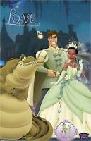 PRINCESS & THE FROG MOVIE POSTER ~ LOVE CAST 22x34 Disney