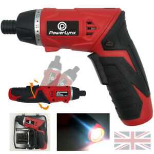NEW Electric Cordless Screwdriver Torch Set USB Rechargeable Lithium Ion Battery