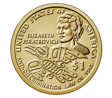 2020 US $1 Dollar coin, Native American, ANTI-DISCRIMINATION LAW, UNC, USA, 2020