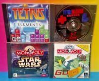 4 Game PC Lot - Monopoly, Tetris Elements, Monopoly Star Wars, Tetrimania Master