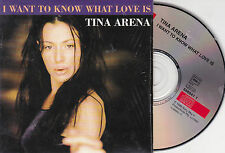 CD CARTONNE CARDSLEEVE TINA ARENA 2T I WANT TO KNOW WHAT LOVE IS DE 1998 TBE