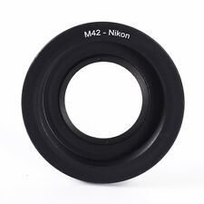 M42 Nikon Screw Lens to  F Mount Adapter Ring With Glass Focus Infinity Camera