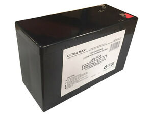 ULTRAMAX LI7-12, 12V 7Ah LITHIUM IRON PHOSPHATE / LiFePO4 BATTERY WITH CHARGER