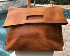 Maison Martin Margiela Men's Brown leather foldover shoulder travel bag
