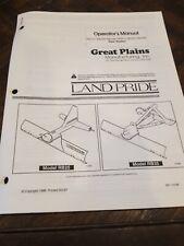Land Pride Rear Blades Rb2572 Rb2584 Rb2596 Rb3572 Rb3584 Operators Manual
