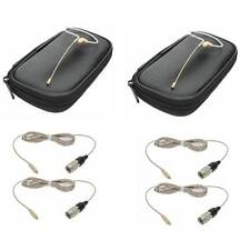 2 OSP HS-09 Tan EarSet Cheek Microphones For Audio-Technica Wireless Systems