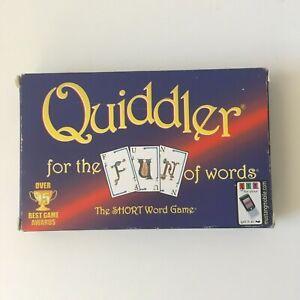 Quiddler Word Game - Vintage 1998