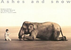 GREGORY COLBERT Boy Reading to Elephant (lg) 35.5 x 51 Poster 2005 Photography B