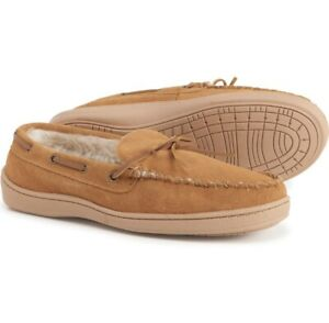 Clarks Men's Original Suede Trapper Lined Moccasin Slippers Cinnamon All Sizes