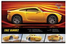 "DISNEY'S CARS 3 POSTER ""LICENSED"" BRAND NEW ""Cruz Ramirez Stats"" size 61X91.5CM"