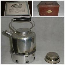 "Antique Military WW2 ""Garrison"" Campaign set- Stove-Kettle In Original Metal Box"