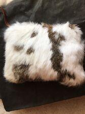 Patricia Nash Winter Fur Cassini Wristlet Clutch bag White Rabbit Fur NWT $129