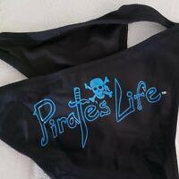 PIRATE'S LIFE Brand Bikini BLACK BOTTOMS