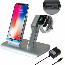 Wireless Phone/Watch Charging Stand Combo Cordless Charger iPhone All QI Devices