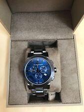 $900 NWT BURBERRY Men's Swiss Chronograph Gray Ion-Plated WATCH BU9365
