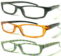 L266T Mens Womens Small Pocket Style Plastic Reading Glasses Spring Hinges Arms*
