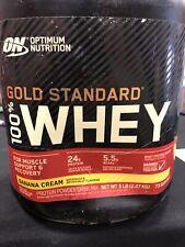 Optimum Nutrition Whey Gold Standard 100% Protein Powder, Banana Cream, 5 Pound