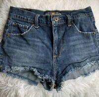 Lucky Brand Womens The High Rise Cut Off Shortie Jean Shorts 00 24 Framed Hem