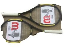 2X WILSON NITRO TENNIS RACKETS GRIP 2 FREE TRACKED UK DELIVER RRP £269.98.