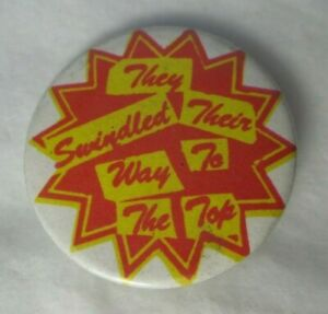 Sex Pistols Swindled Vintage Circa 1979 32mm Badge Pin Button Punk New Wave