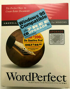 Novell Word Perfect Word Processor V 6.1 For Windows 3.5 HD Diskettes NEW Sealed