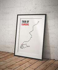 Cycling Tour of Flanders Route Digital Artwork Print