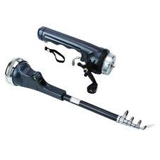 Portable Folding Pocket Fish Pen Aluminum Alloy Fishing Rod Pole + Reel